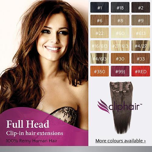 Finest Quality Full Head Remy Clip In Human Hair Extensions. Real Hair Extension <br/> Premium Remy Hair, Grade AAA+, European Hair Texture.