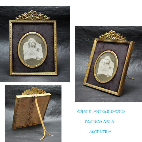 Nice antique bronze French picture frame 19 cm x 13 cm<br/>Picture Frames - 40024