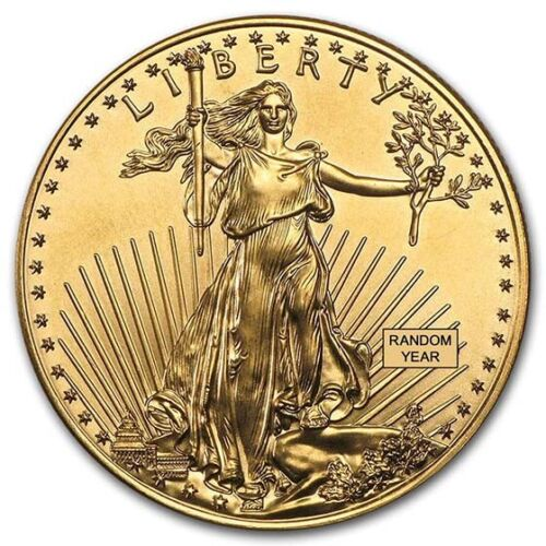 1oz Gold American Eagle Coin Random Year BU - SKU #84672 <br/> Buy with confidence &amp; Free Shipping from APMEX on eBay!