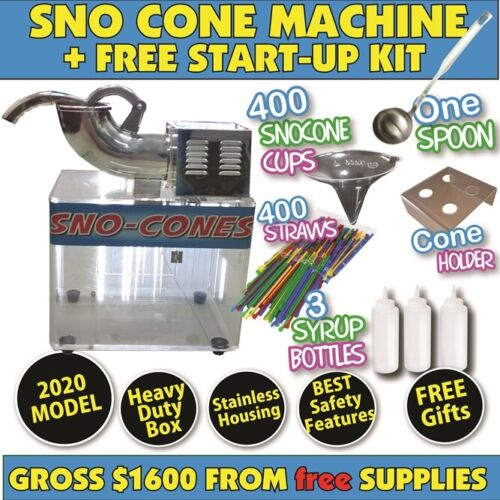 Snow Cone Machine 2018 model. *Full Size* Sno &amp; Fairy Floss Users Brand New <br/> $1600 in CASH from FREE Extras kit PROFESSIONAL QUALITY