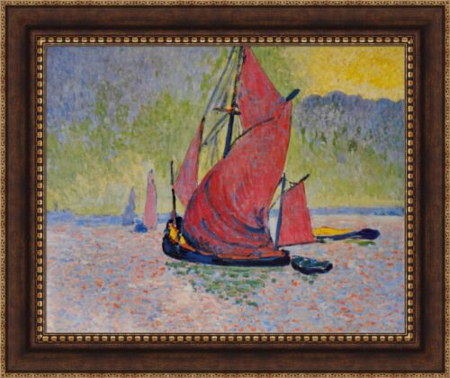 "Derain Andre The Red Sail Framed Canvas Giclee Print 32.5""x27"" (V11-13)"