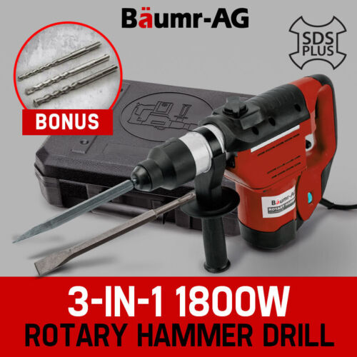 Baumr-AG 1800W Demolition Rotary Jack Hammer Jackhammer Electric Concrete Drill <br/> 20% OFF. Must use Checkout Code PUMPED20. Ends 21/03.