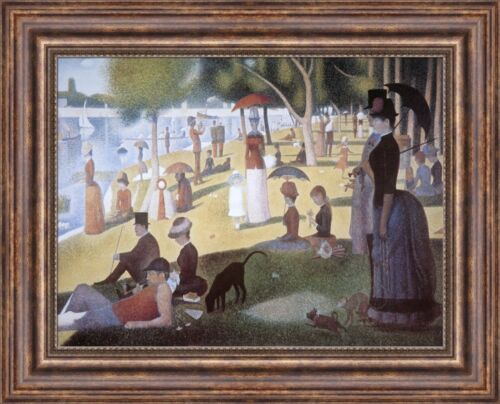 "Georges Seurat Grande Jatte Sunday Afternoon on the Island 27""x21.5"" (V07-08)"