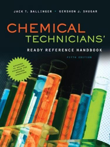 Chemical Technicians' Ready Reference Handbook by Jack T. Ballinger (English) Ha