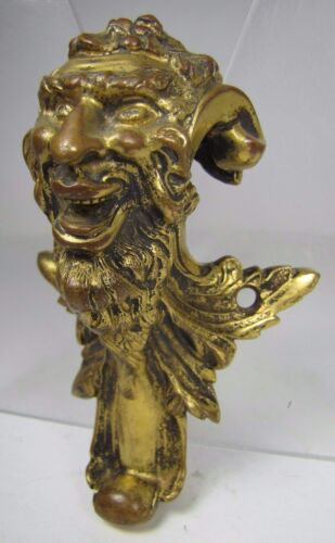 Antique 19c Bronze Devil Demon Decorative Art Ornate Architectural Hardware<br/>Metalware - 1211