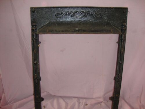 Vintage Victorian Cast Iron FIREPLACE SURROUND Architectural Salvage Frame <br/>Fireplaces & Mantels - 63518