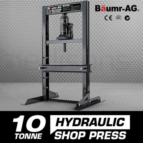10 Tonne Hydraulic Shop Press Workshop Jack Bending Stand H-Frame <br/> 20% OFF* with code POOLTIME. Ends 25/01/19. T&amp;Cs apply.
