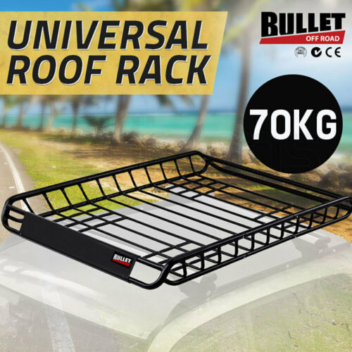 BULLET Universal Vehicle Roof Rack Steel Cargo Luggage Basket Carrier Cage Tray <br/> 5% OFF may apply! Use PICK5 in Checkout. T&amp;Cs apply.