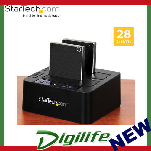 STARTECH USB 3.1 (10Gbps) Standalone Duplicator Dock for 2.5in & 3.5in SATA SSD/