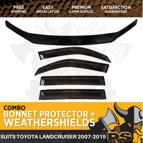 Bonnet Protector, Weathershields to suit Toyota Landcruiser 200 Series 2007-2015
