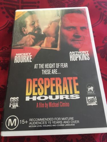 *DESPERATE HOURS* VHS Fox Video - MICKEY ROURKE & ANTHONY HOPKINS