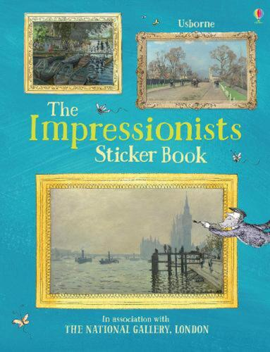 Impressionists Sticker Book by Sarah Courtauld Paperback Book Free Shipping!