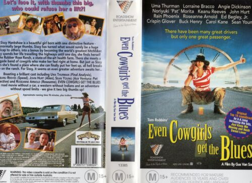 EVEN COWGIRLS GET THE BLUES - VHS - PAL -NEW -Never played! -Original Oz release