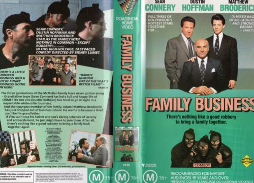 FAMILY BUSINESS - Sean Connery -VHS -PAL -NEW-Never played!-Original Oz release