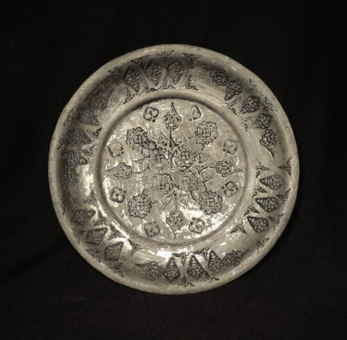 1700&#039;s. Antique Islamic Ottoman Tin Plated Copper Plate, Hand Hammered<br/>Islamic - 162918