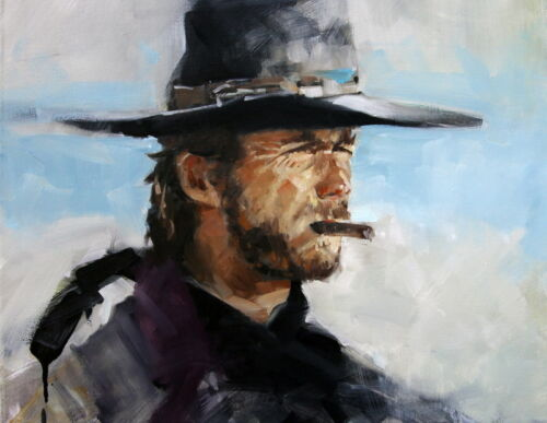 Sitting Room Art Wall Decor Cowboy Oil painting Picture Printed On Canvas CP03
