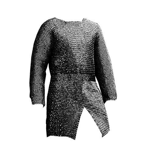CHAINMAIL SHIRT ARMOUR LARGE FULL SLEEVE MEDIEVAL COSPLAY SCA LARP COSTUME Reenactment & Reproductions - 156374
