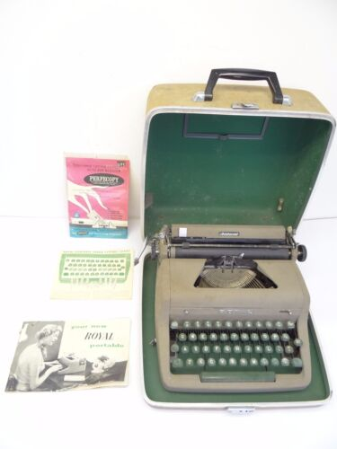 Vintage Used Royal Portable Division Aristocrat Typewriter in Travel Case Parts