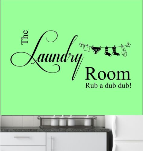 Laundry Room Vinyl Wall Art Sticker, Decal, Mural, Kitchen, Utility