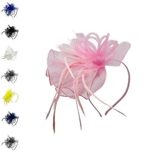 Fascinator Classic Wedding Races Occasion Headband Alice Royal Ascot Head Flower