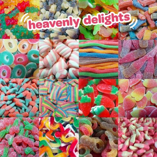 Heavenly Delights 100% Halal Sweets (Pic n Mix) Retro Candy | HMC Certified <br/> Halal HMC Certified / Gluten Free