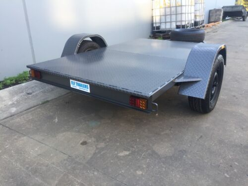 Brand new Flat bed Trailer 8x5 suit dirt bikes kx yz rm cr quads AUSTRALIAN MADE