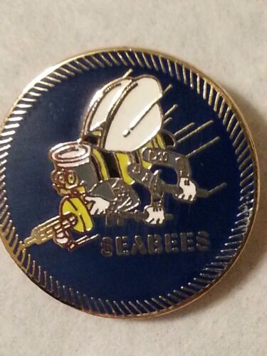 "US Navy ""SEABEES""  1 inch pinNavy - 66533"