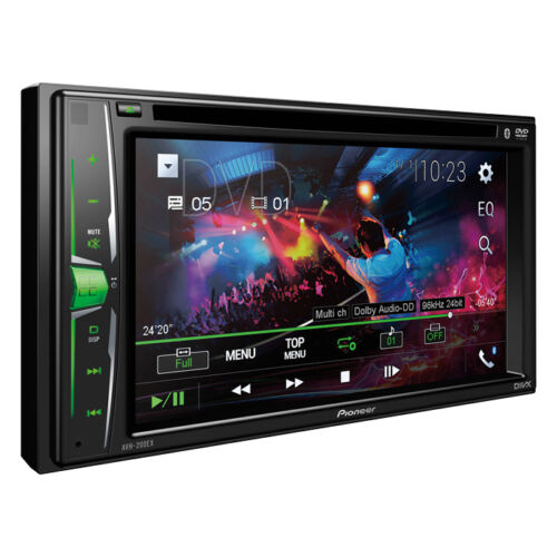 NEW Pioneer Double 2 Din AVH-200EX DVD/MP3/CD Player 6.2&quot; Touchscreen Bluetooth <br/> iPod iPhone Control , Android Music - 1 YEAR WARRANTY