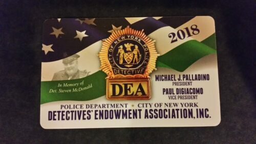 """1 COLLECTIBLE NEW ""AUTHENTIC "" 2018 NYPD DEA PBA CARD "" NOT SBA  CEA  LBA CARD"