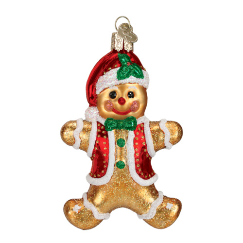 """Gingerbread Boy"" (32164)X Old World Christmas Glass Ornament"