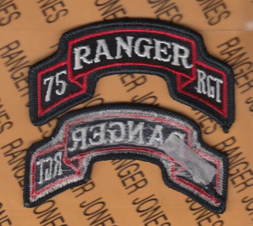 US ARMY 75th Infantry Airborne Ranger Regiment uniform scroll patch m/e Army - 66529