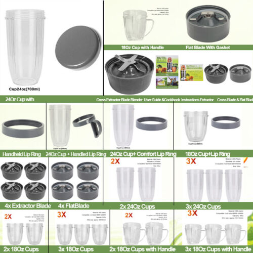 Nutribullet Replacement Parts Cup Lid Blade Suits 600W & 900W Models