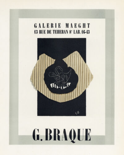 Georges Braque lithograph poster (printed by Mourlot) 89089809