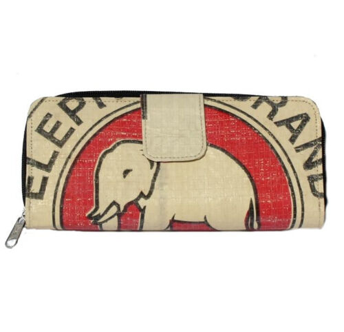 Elephant Brand Recycled Ladies Long Fold Out Wallet made in Cambodia