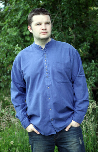 SALE 20% DISCOUNTraditional Civilian Grandfather Collarless  Shirt from Ireland