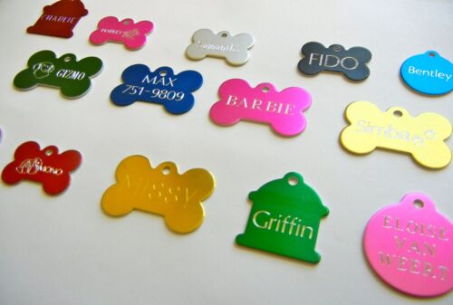 CUSTOM ENGRAVED PERSONALIZED PET TAG ID DOG CAT NAME TAGS SINGLE SIDE <br/> BUY 3 get 1 GET 1 FREE *MUST ADD 4 TO CART TO GET FREE*