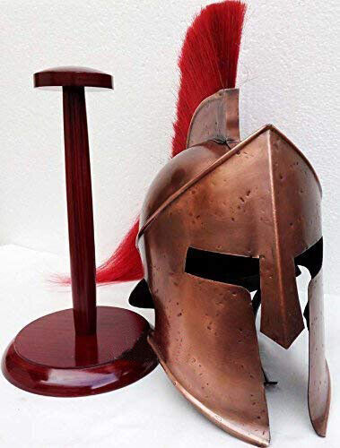 Medieval Roman Spartan Helmet King 300 Leonidas Armor W/Red Plume z@#5Reenactment & Reproductions - 156374