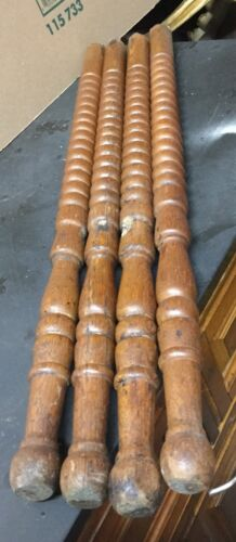Set 4 1900  spindle oak parlor  Table Legs Salvage