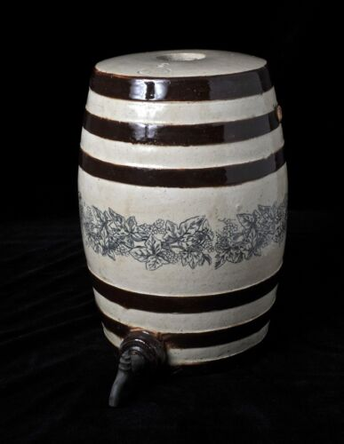 Antique Stoneware Salt Glazed Spirits Barrel Spigot The Pottery Fulham London <br/>Jugs - 163004