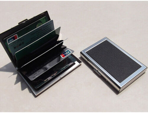 METAL BODY BUSINESS NAME CARD/CREDIT/DEBIT/ID CARD HOLDER ( BLACK ) <br/> Card holder to keep your cards safe