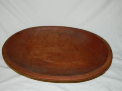 Vintage Wooden WILD CHERRY-Bread Dough Bowl Signed &amp; Dated G. Boyd 1989-HUGO<br/>Bowls - 37942