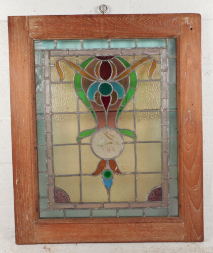 Vintage Stained Glass Window Panel (3143)NJ<br/>1900-1940 - 4771