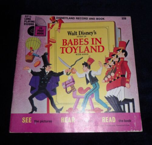 33 1/3 RPM  #329  BABES IN TOYLAND   Disneyland Record & Book