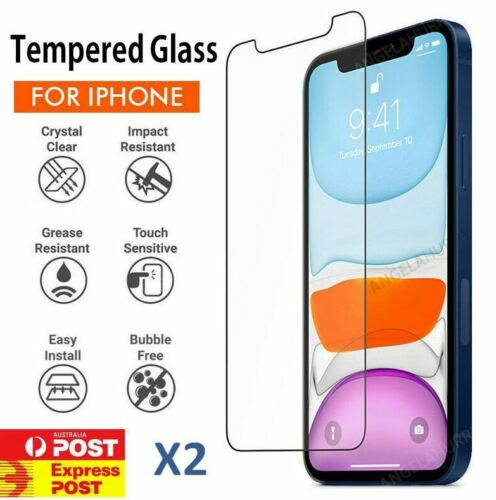 iPhone XS Max XR X - 2X Tempered Glass Screen Protector Apple
