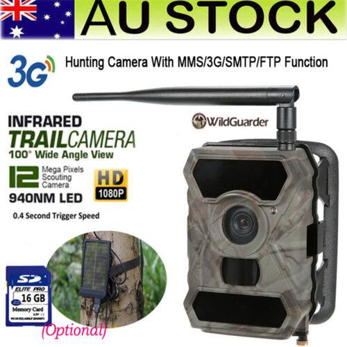 3G MMS Trail Hunting Camera Home Security Scouting 890WG Cam+Solar Charger /16GB