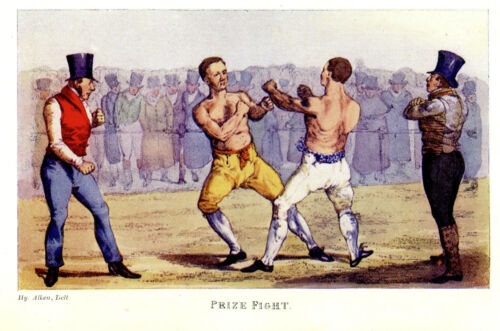 Boxing Prize Fight BARE KNUCKLE Fighting PRIZEFIGHTING FIST FIGHT Vintage Boxing