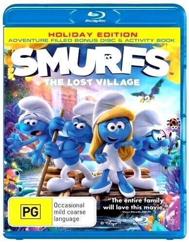 SMURFS THE LOST VILLAGE Holiday Edition New Blu-Ray (2 Discs) DEMI LOVATO ***