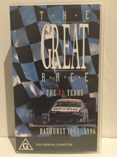 THE GREAT RACE ~ THE V8 YEARS BATHURST 1993 1996 ~ AS NEW VHS VIDEO
