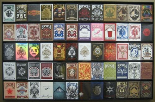 Collectors Playing Cards Frame - 60 Deck Acrylic Playing Card Display US Made