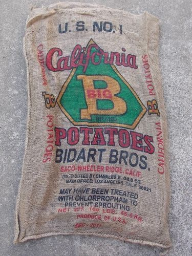 1 Qty - 24&quot; x 40&quot; Used Burlap Potato Sack/Bag Rat Rod, Sack Race, Feed/Seed <br/> Cheapest Price for Printed Sacks on all of eBay!